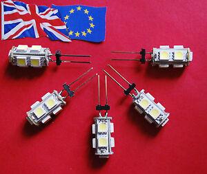 5 x 10 watt 12 volt Halogen Bulb Replacements - LED Bulbs - 92% Energy Saving