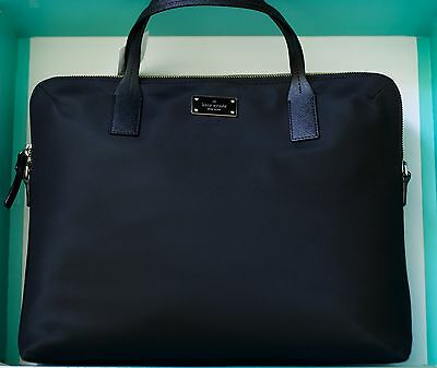 Kate Spade New York Daveny Classic Nylon Laptop Case Bag in Black NWT $248