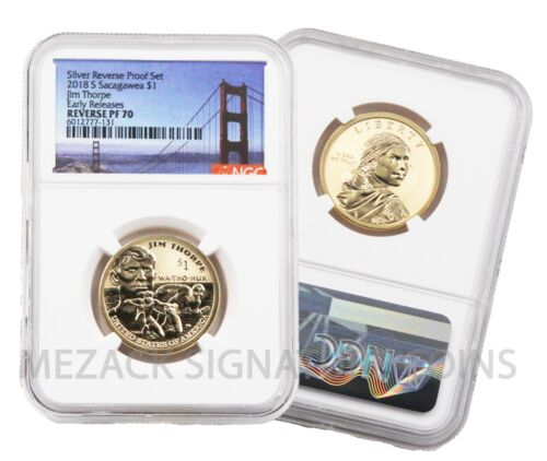 2018-S Native American Dollar 50th Annv Set Early Release Reverse Proof PF70 NGC