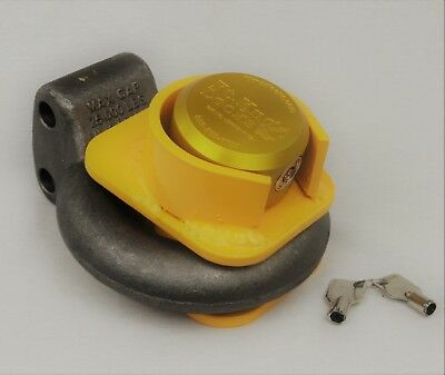 Pintle High Security Trailer Lock Includes Cobra 7 Puck Lock - Bolt Cutter Proof