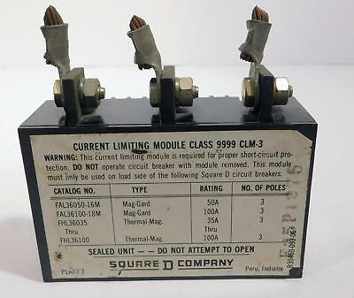 Square D Current Limiting Module Class 9999 Clm-3