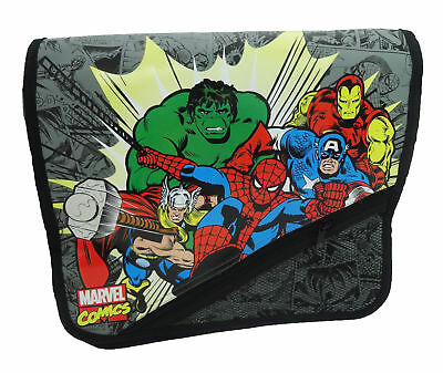 Marvel Avengers Kapow Courier Messenger Despatch Shoulder School Bag