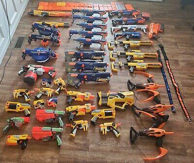 36 Huge Nerf Gun Lot. Hail fire, Rapid Strike, Long shot, Raider Recon, Stampede