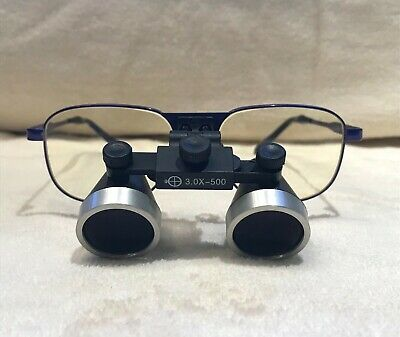 New Seiler 3.0x 500mm Blue Titanium Dental Medical Surgical Loupes Accessories