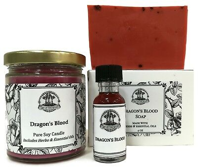 Dragons Blood Spell Kit Love Power Protection Purification Wiccan Pagan Hoodoo