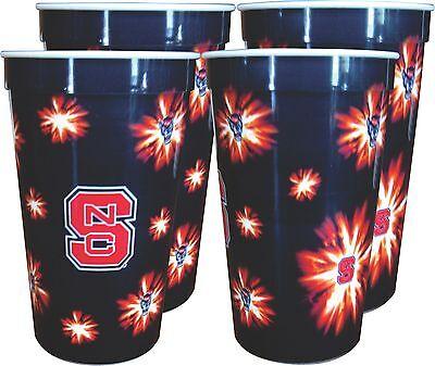 NC State Wolfpack 22 oz. Souvenir Cups (4 per set) ()