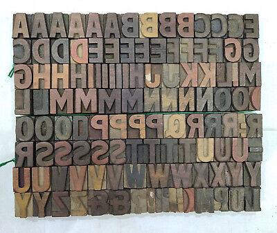 Vintage Letterpress Woodwooden Printing Type Block Typography 120 Pc 27mmtp-50