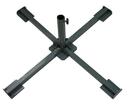 Schirm Ständer Klappbar Sonnenschirm Schirmständer Faltbar für Betonplatten