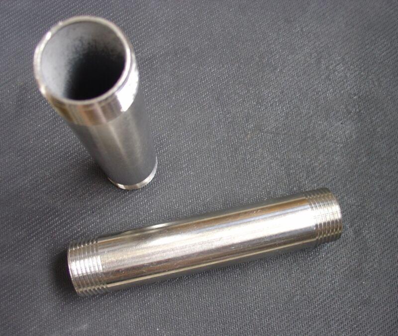 """STAINLESS STEEL NIPPLE 1/4"""" NPT x 6"""" LONG PIPE NP-025-060"""