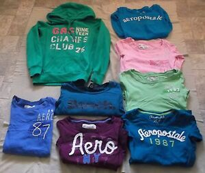 Ladies Aeropostale & Bench Shirts + Garage Hoodies Size XS