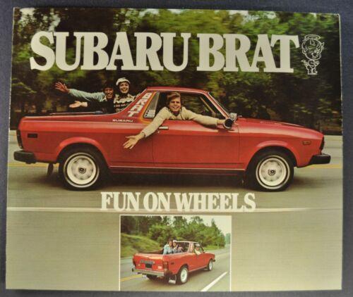 1978 Subaru Brat Sales Brochure Folder 4x4 Excellent Original 78