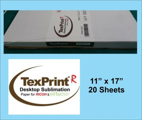 TexPrint R Sublimation Transfer Paper,  11x17, Pack of 20 sheets