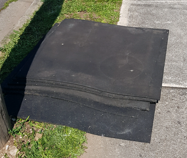 FREE 6 gym floor mats | garage | shed | weights