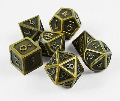 Würfel Rollen (Polyedrische Gold-Optik Metall-Würfel Rollenspiele-Pen & Paper Steampunk)