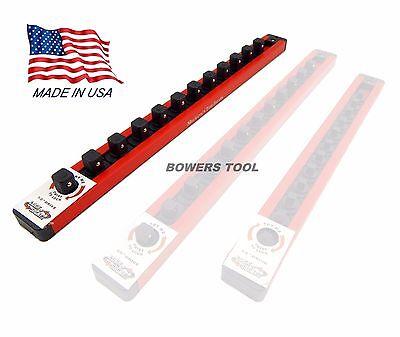 Mechanics Time Saver 1/2 in Drive Lock A Socket Rail Rack MTS USA Made 12 Clip