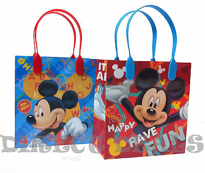 Mickey Gift Bags (18 pc Disney Mickey Mouse Party Favors Gift Toy Bags Birthday Candy Minnie)