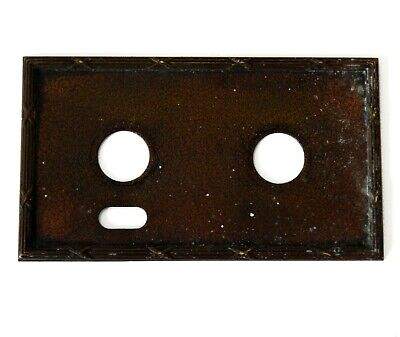 Antique Vintage Double Light Switch Toggle Cover Plate Metal #D