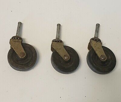 3 Vintage Matching Casters