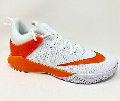 Nike Zoom Shift TB Basketball Shoes White/Orange (942802-105) Men's Size 14