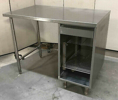 Stainless Steel 48 X 30 Table With Drawer Undershelf Cabinet