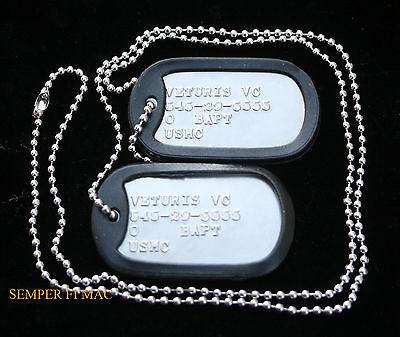 2 TWO CUSTOM DOG TAGs US AIR FORCE LACKLAND AFB AIRMAN