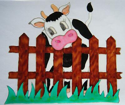 COW FARM ANIMAL WINDOW PICTURE DECORATION STICKER DECAL