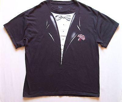 Mens Tuxedo T Shirt Sz XL formal wedding reception halloween dinner event - Spencer's Halloween T Shirts