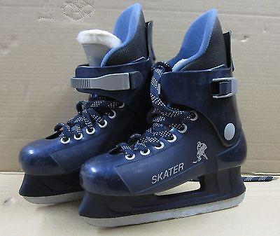 Schlittschuhe Skater Euro Größe  36 dunkelblau Hartkunststoff