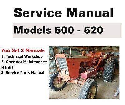 Belarus Tractor 500 520 Manual Set - Technical Repair Parts Operator Maint