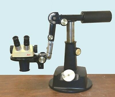 Leica Sz4 Gem Jewelry Stereozoom Stereo Microscope W 3 Axis Boom Stand