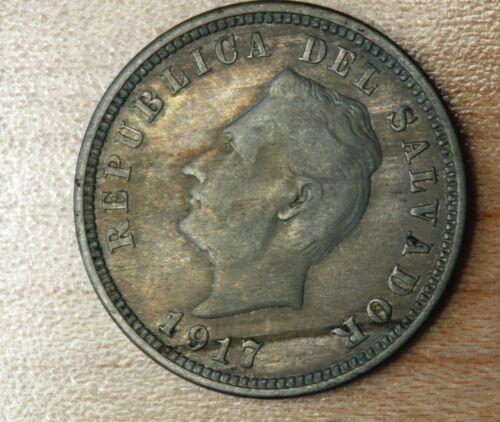 1917 El Salvador 5 Centavos