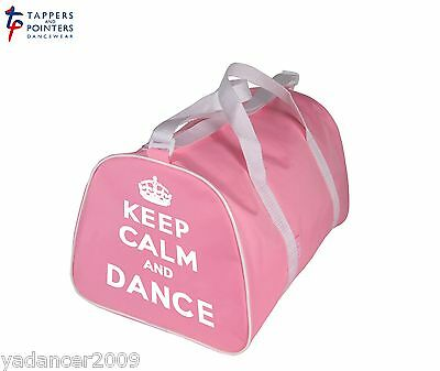 Lilac Dance (KEEP CALM AND DANCE Barrel Shaped Holdall Bag for dancer in PINK or LILAC)
