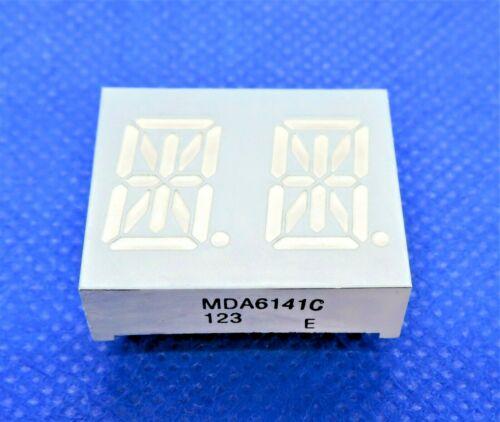 "MDA6141C EVERLIGHT 14 SEGMENT 2-DIGIT ALPHANUMBERIC LED DISPLAY 0.54"" BRIGHT RE"