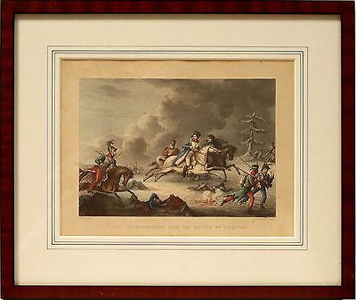 Handcolorierter Kupferstich -Napoleon bei Krasnoi -Heath und Sutherland 1815