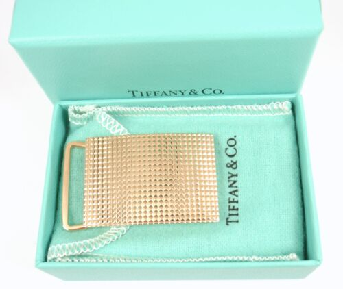 """Rare Antique Authentic Tiffany & Co 14K Yellow Gold Buckle for 1"""" Belt w/box"""
