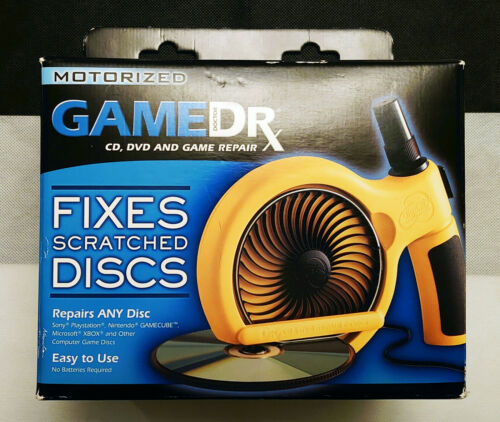 gameDr Game Dr Doctor Motorized CD DVD Disc Resurfacer Scratch Repair System Fix