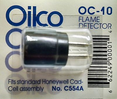 OIL BURNER CAD CELL EYE C554A REPLACES OC-10, HONEYWELL 130367, 124607, 120320