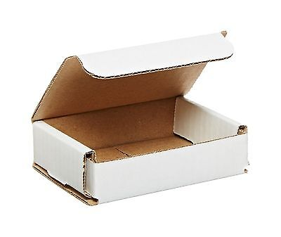 50 - 4x3x1 Small White Corrugated Cardboard Packaging Shipping Mailing Box Boxes