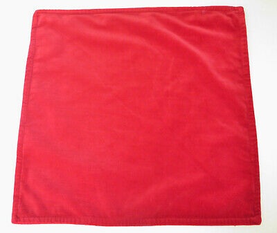 Pottery Barn Washed Velvet Pillow Cover 20 x 20 Cherry Red Cotton Christmas New