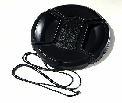 49MM CENTRE PINCH AND GRIP LENS CAP COVER FITS CANON SONY NIKON OLYMPUS FUJ