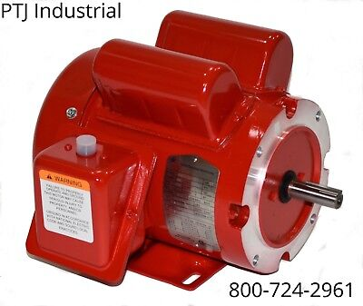 12 Hp Electric Motor 56c Or 56 Frame 1755 115230 1 Phase F56c12s4c-mo 110086