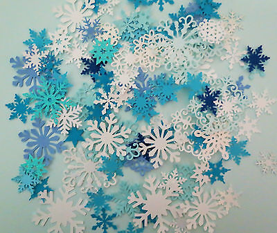 Frozen Snowflakes Winter Punch Paper Die Cut Set of 100 Scrapbook Embellishment