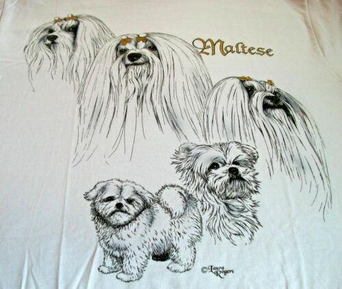 """Maltese T-shirt """" White """" MED ( 38 ~ 40 )"""