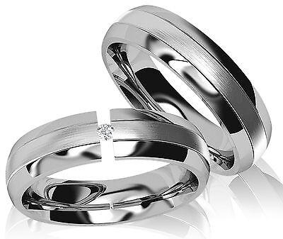 Eheringe Verlobungsringe Partnerringe Freundschaftsringe Silber mit Zirkonia L66