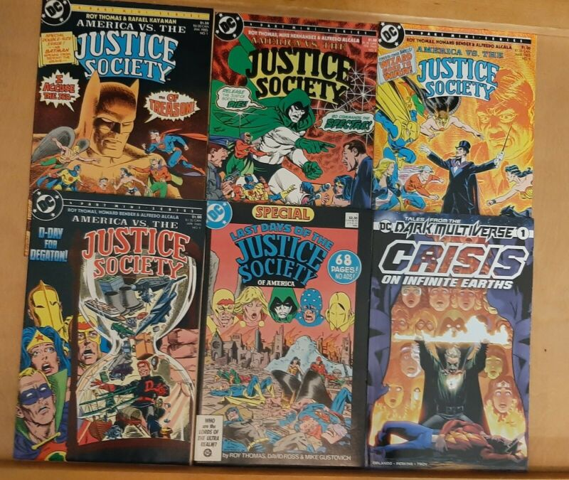 Justice Society DC lot America Vs Last Days Of Crisis On Infinite Multiverse