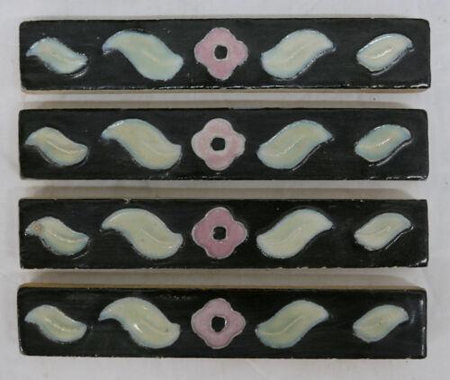 Vintage Floral Border or Trim Tile Liner Set=4
