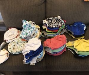 CLOTH DIAPERS, liners, wet bags, rubber pants etc