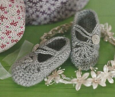 Crochet Pattern ~ Baby & Kids Glass Slippers Booties ~ Instructions