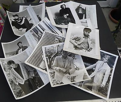 Lot of 55 vtg 1980s men's press promo model fashion designer photos 8x10