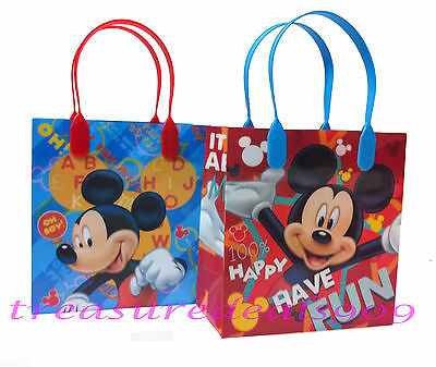 OUSE GOODIE BAGS PARTY FAVORS CANDY LOOT TREAT BIRTHDAY BAG  (Mickey Goodie Bags)